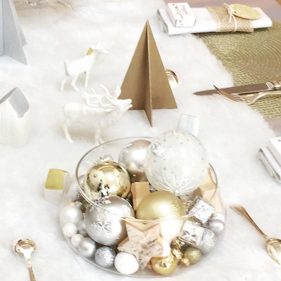 Une déco de table de Noël tout en douceur